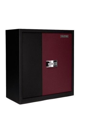 Stratford Premium Extra Large Heavy Duty 2 Door Metal Cabinet Cupboard Storage Safe with 2 drawers