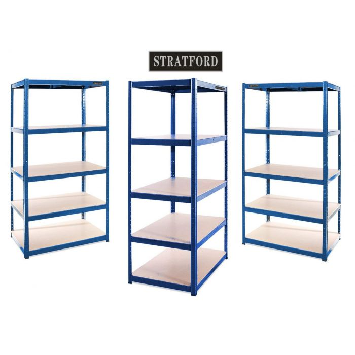 Metal Racking Shelving 150cm, 180cm, 250cm heights for Garage, Industrial or warehouse