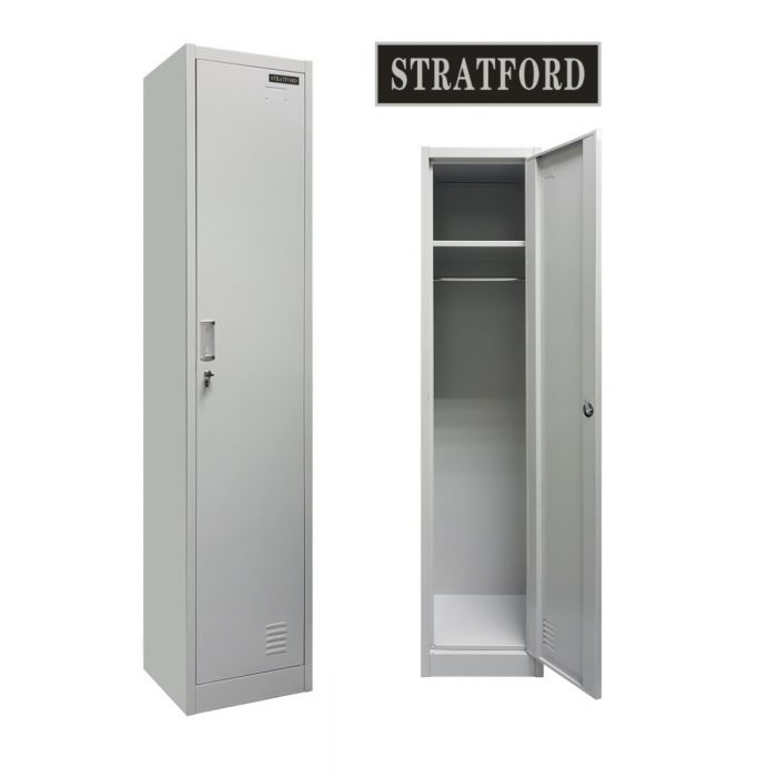 Stratford One Door Key Lockable Office or Gym Storage Locker Steel Metal School Staff Locker